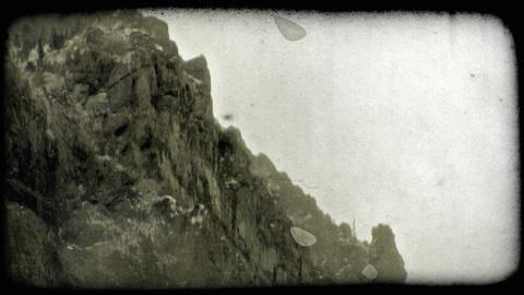 Mountain ledge 1. Vintage stylized video clip Footage