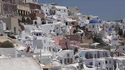 Greece Aegean Sea Cyclades Santorini Oia colorful upper town high on volcano GIF