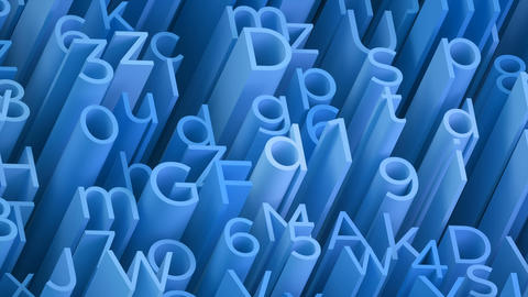 Random 3d blue letters and numbers animated background Animation