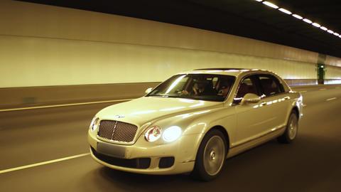 Luxury car models in tunnel Footage