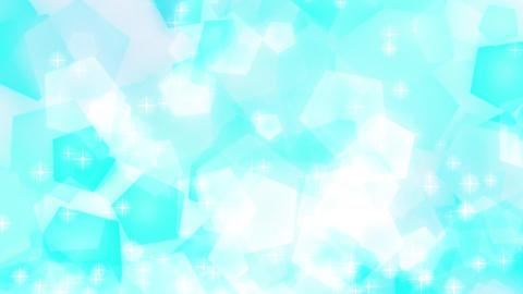 五角形 パステルカラー 上に流れる キラキラ 水色 CG動画素材