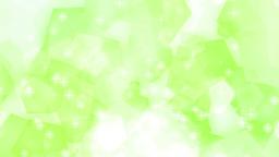 五角形 パステルカラー 上に流れる キラキラ 黄緑 CG動画素材