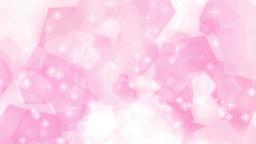 五角形 パステルカラー 上に流れる キラキラ ピンク CG動画素材