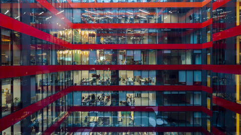 4k bussiness people working in office time lapse Footage