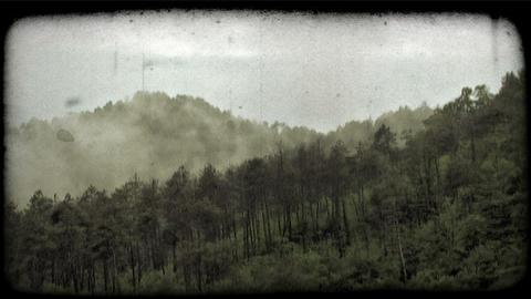 Timelapse Fog 2. Vintage stylized video clip Footage