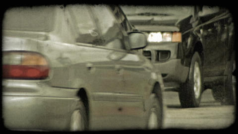 Busy intersection. Vintage stylized video clip Footage