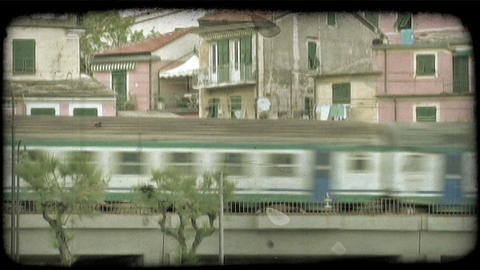 Italian Train 2. Vintage stylized video clip Live Action