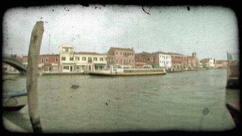 Venice Canal 9. Vintage stylized video clip Footage