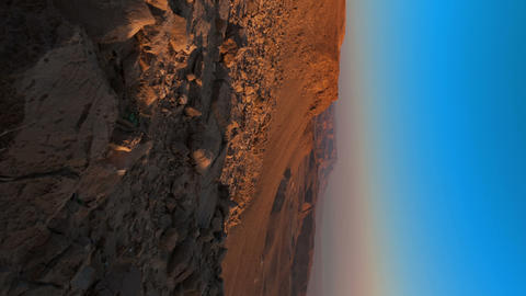 Vertical shot of Sunrise time-lapse near the Dead Sea, Israel Footage