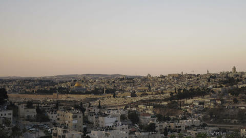 Panning shot of Sunrise time-lapse from the BYU Jerusalem center Footage