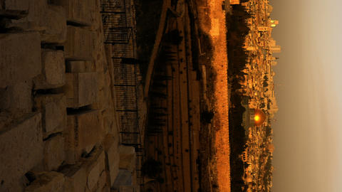 Vertical shot of Sunrise time-lapse from the Mount of Olives overlooking the Dom Footage