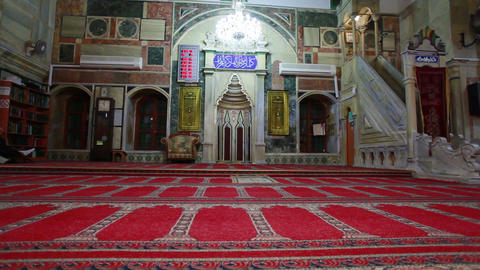Stock Footage of the front interior of Jezzar Pasha Mosque in Israel Footage