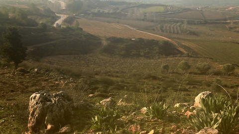 Stock Footage of pastoral hillsides in the Golan Heights in Israel Footage