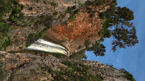 Stock Footage horizontal of Iyon Tanur waterfall and gorge in Israel Footage