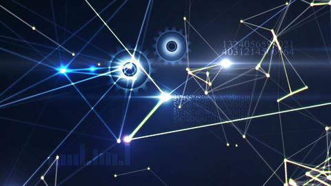 Business technology background Animation