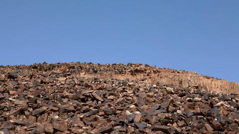 Stock Footage of a hillside of natural rock columns in Israel Footage