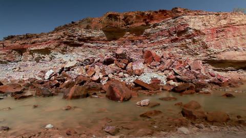 Stock Footage of a stream in a rocky, desert landscape in Israel Footage