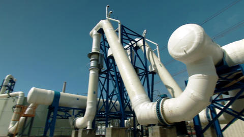 Stock Footage of a piping structure at a desalination plant in Israel Footage