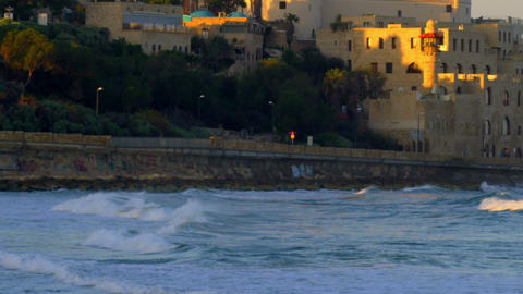 Royalty Free Stock Video Footage of St. Peter's Church in Jaffa shot in Israel a Footage