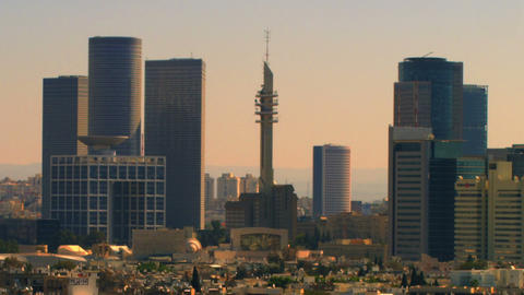 Royalty Free Stock Video Footage of a Tel Aviv cityscape shot in Israel at 4k wi Footage
