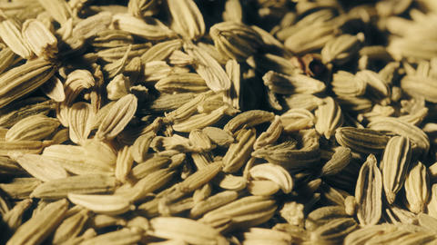 Pile of cumin seeds macro shot Footage