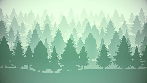 2d wood flat style parallax animated background loop CG動画素材