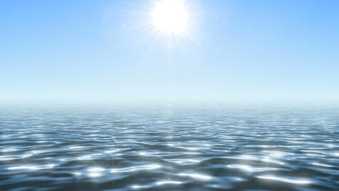 Glaring ocean under summer bright sun GIF