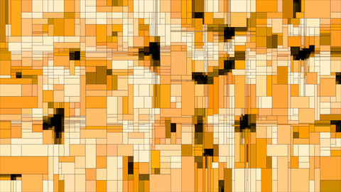 Yellow scanning squares animated background loop Animation