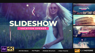 Vacation Travel Slideshow After Effects Template