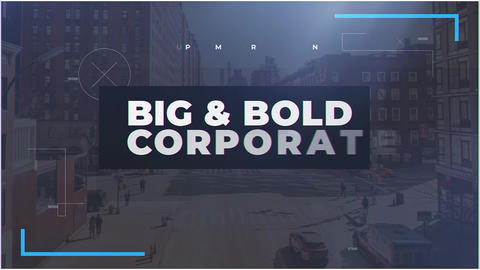 Big & Bold Corporate After Effects Template