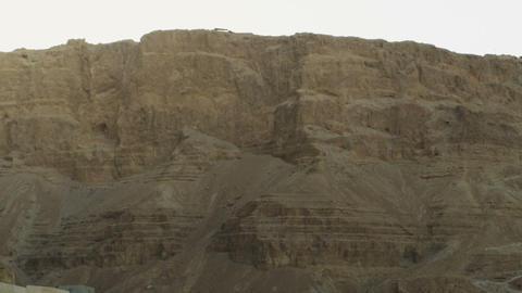 Royalty Free Stock Video Footage of Mount Masada at sundown shot in Israel at 4k Footage