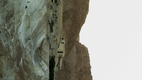 Royalty Free Stock Video Footage panorama of Masada area shot in Israel at 4k wi Footage
