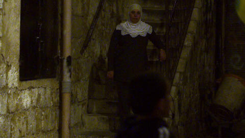 Stock Video Footage of boy juggling a soccer ball at night filmed in Israel at 4 Footage
