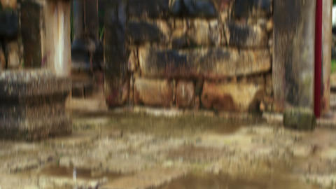 Royalty Free Stock Video Footage of a puddle in the Bar'am ruins shot in Israel  Footage