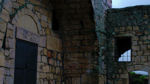 Royalty Free Stock Video Footage of a ruined old church shot in Israel at 4k wit Footage