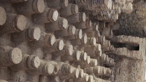 Royalty Free Stock Video Footage of Beit She'an bathhouse ruins shot in Israel a Footage