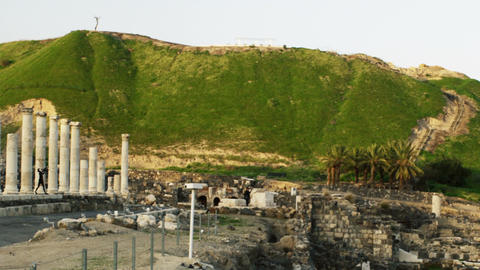 Royalty Free Stock Video Footage of a green hill at Beit She'an shot in Israel a Live Action