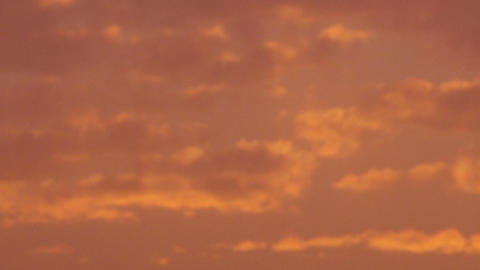 Royalty Free Stock Video Footage of orange clouds at sunset shot in Israel at 4k Live Action