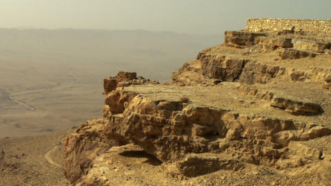 Royalty Free Stock Video Footage of Makhtesh Ramon crater shot in Israel at 4k w Live Action