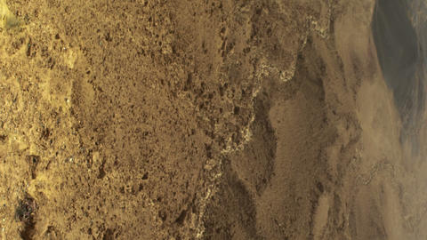 Royalty Free Stock Video Footage of Ramon crater floor shot in Israel at 4k with Live Action