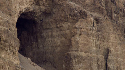 Royalty Free Stock Video Footage of a cave in a cliff face shot in Israel at 4k  Footage