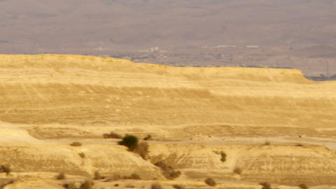 Royalty Free Stock Video Footage panorama of a desert landscape shot in Israel a Live Action