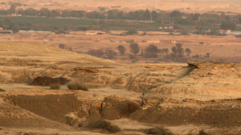 Royalty Free Stock Video Footage of a desert landscape at dusk shot in Israel at Live Action