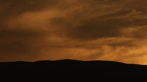 Royalty Free Stock Video Footage panorama of a cloudy sunset shot in Israel at 4 Live Action