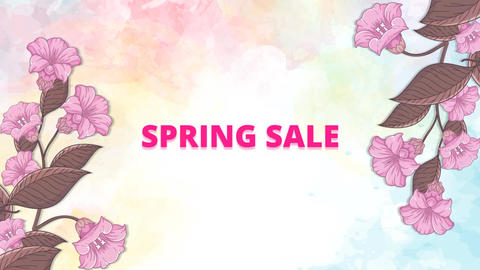 Spring Season Sale After Effects Template