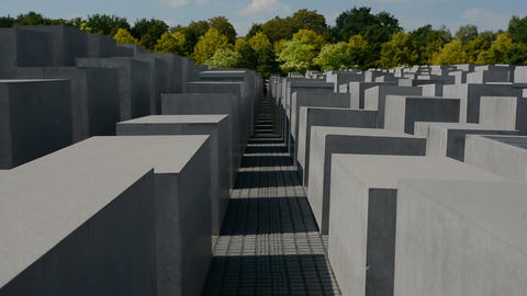 Memorial to the Murdered Jews of Europe, also known as the Holocaust Memorial in Footage
