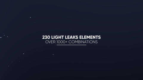 Light Leaks Constructor - 230 Elements Motion Graphics Template