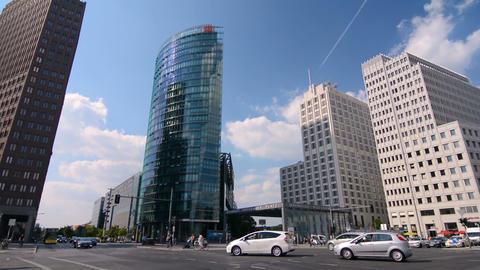 Potsdamer Platz, Berlin, Germany on a sunny day Live Action