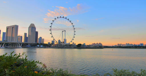 Singapore at the golden sunset Footage