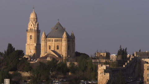 Royalty Free Stock Video Footage of Hagia Maria Sion Abbey filmed in Israel at 4 Footage